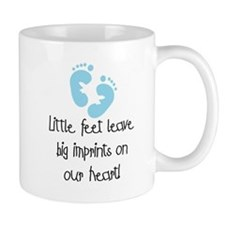 Baby Footprints Blue Mug