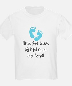 Baby Footprints Blue T-Shirt