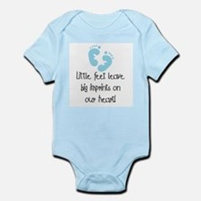 Baby Footprints Blue Infant Bodysuit