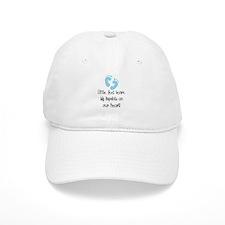 Baby Footprints Blue Baseball Cap