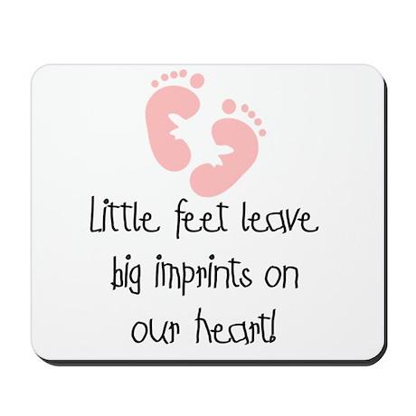 Baby Footprints Pink Mousepad