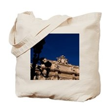 Famous Trevi Fountain with throwing coin  Tote Bag