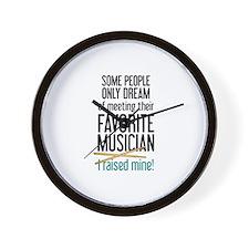 Meeting Musicians Wall Clock