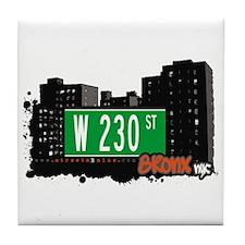 W 230 ST, Bronx, NYC Tile Coaster
