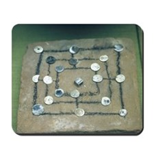Muhle board game. Roman. 1st cent. AD. Mousepad