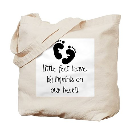 Baby Footprints Tote Bag