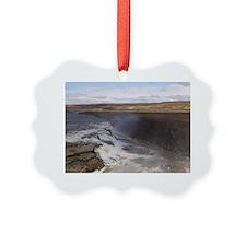 Gullfoss waterfalls, Iceland. Ornament