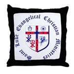 St. Luke's Throw Pillow with Round Text