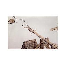 Medieval Catapult, France. Rectangle Magnet