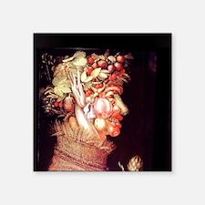 "Summer by Arcimboldo, 1573. Square Sticker 3"" x 3"""