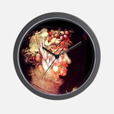 Summer by Arcimboldo, 1573. Wall Clock