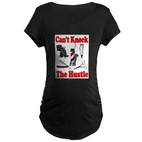 Cant Knock The Hustle Maternity Dark T-Shirt
