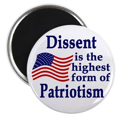 Dissent is Patriotism Magnet (100 pack)