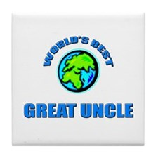 World's Best GREAT UNCLE Tile Coaster