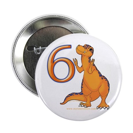 Kids Dino 6th Birthday Gifts Button