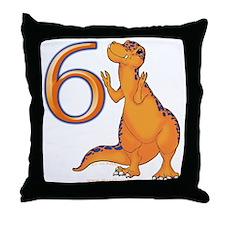 Kids Dino 6th Birthday Gifts Throw Pillow