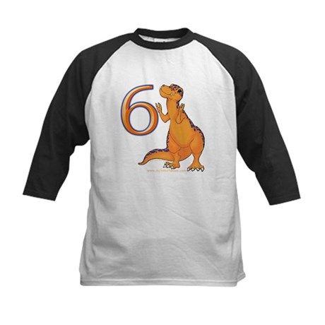 Kids Dino 6th Birthday Gifts Kids Baseball Jersey