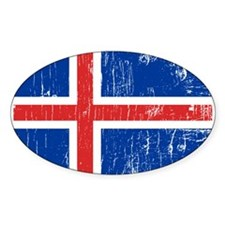 Vintage Iceland Oval Decal