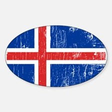 Vintage Iceland Oval Decal
