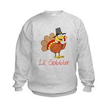Little Gobbler Turkey Cartoon Sweatshirt