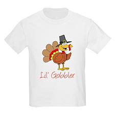 Little Gobbler Turkey Cartoon T-Shirt