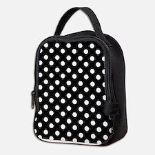 black and white polka dots patt Neoprene Lunch Bag