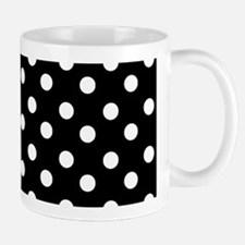 black and white polka dots pattern Small Small Mug