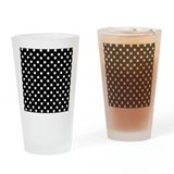 Black and white polka dot Drinking Glass