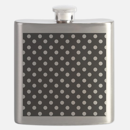 black and white polka dots pattern Flask