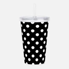 black and white polka Acrylic Double-wall Tumbler