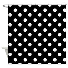 White Curtains With Black Polka Dots