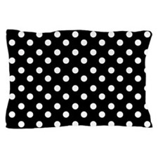 black and white polka dots pattern Pillow Case
