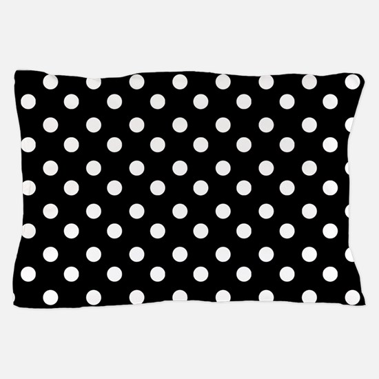 black and white polka dots pattern Pillow Case