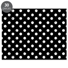 black and white polka dots pattern Puzzle