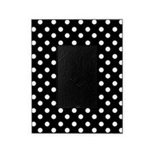 black and white polka dots pattern Picture Frame