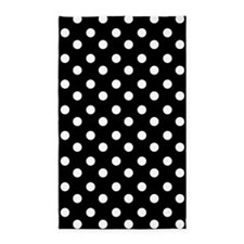 black and white polka dots pattern 3'x5' Area Rug