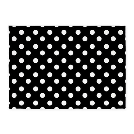 black and white polka dots pattern 5 39 x7 39 area rug by admin