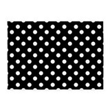 Black white polka 5x7 Rugs