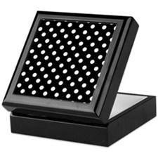 black and white polka dots pattern Keepsake Box