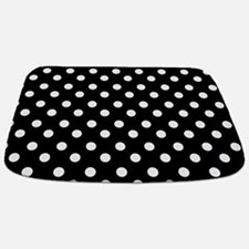 black and white polka dots pattern Bathmat