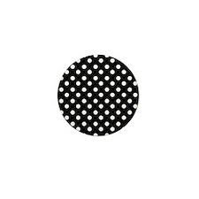 black and white polka dots p Mini Button (10 pack)