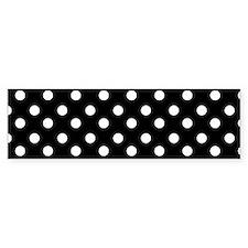 black and white polka dots patter Bumper Sticker