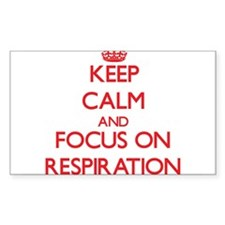 Keep Calm and focus on Respiration Decal