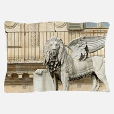 Italy, Verona, statue of lion of Venic Pillow Case