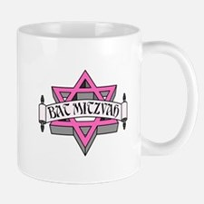 Mitzvah with Pink scroll & Star of David.png Mugs