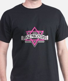 Mitzvah with Pink scroll & Star of David.png T-Shi
