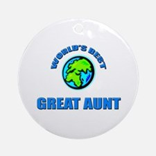 World's Best GREAT AUNT Ornament (Round)