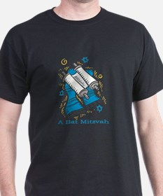 Bat Mitzvah with scroll and shawl.png T-Shirt