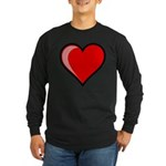 Gel Heart Icon w/ black outline Long Sleeve Dark T