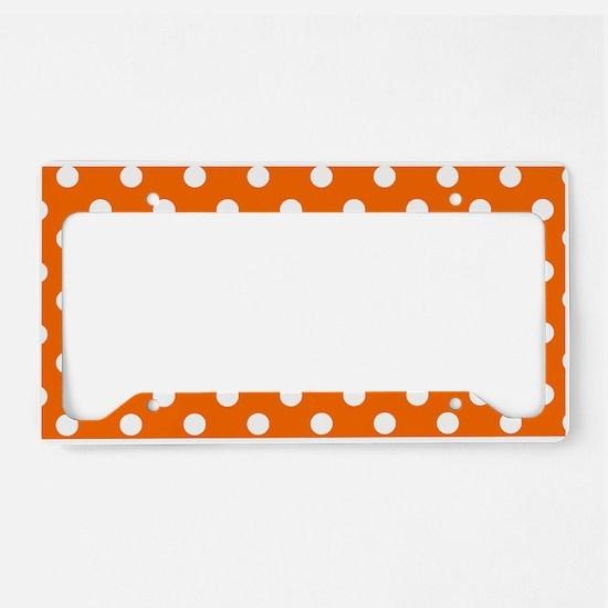 polka dots pattern License Plate Holder